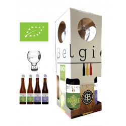 Pack cadeau Belgicus BIO DOUBLE BIO, VIOLET BIO et un verre Belgicus